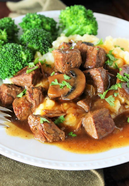 Slow Cooker Beef Tips Recipe image
