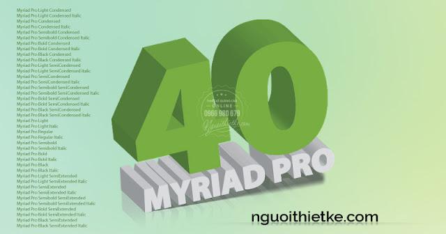 Font myriad pro full download