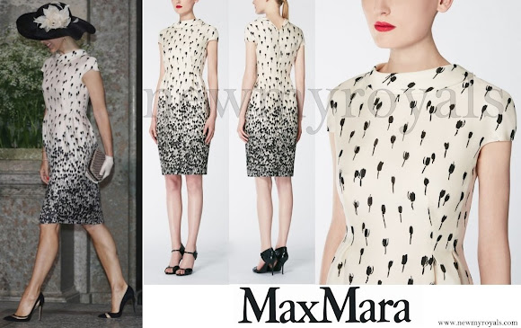 Crown Princess Mary Wore Max Mara Printed Silk Dress