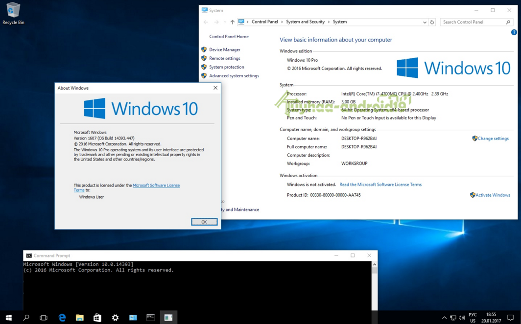Microsoft Windows 10 10.0.14393.447 Version 1607 (Updated Jan 2017) - Original images from the Microsoft MSDN