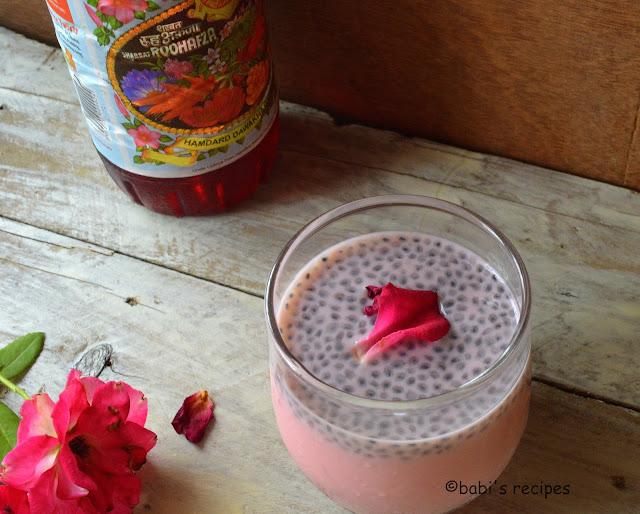 roohafaza sweet basil drink