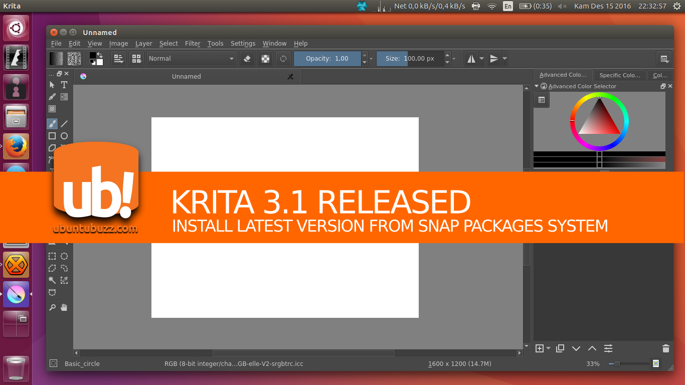 Ubuntu Buzz !: How To Install Krita 3 1 from Snap Package in