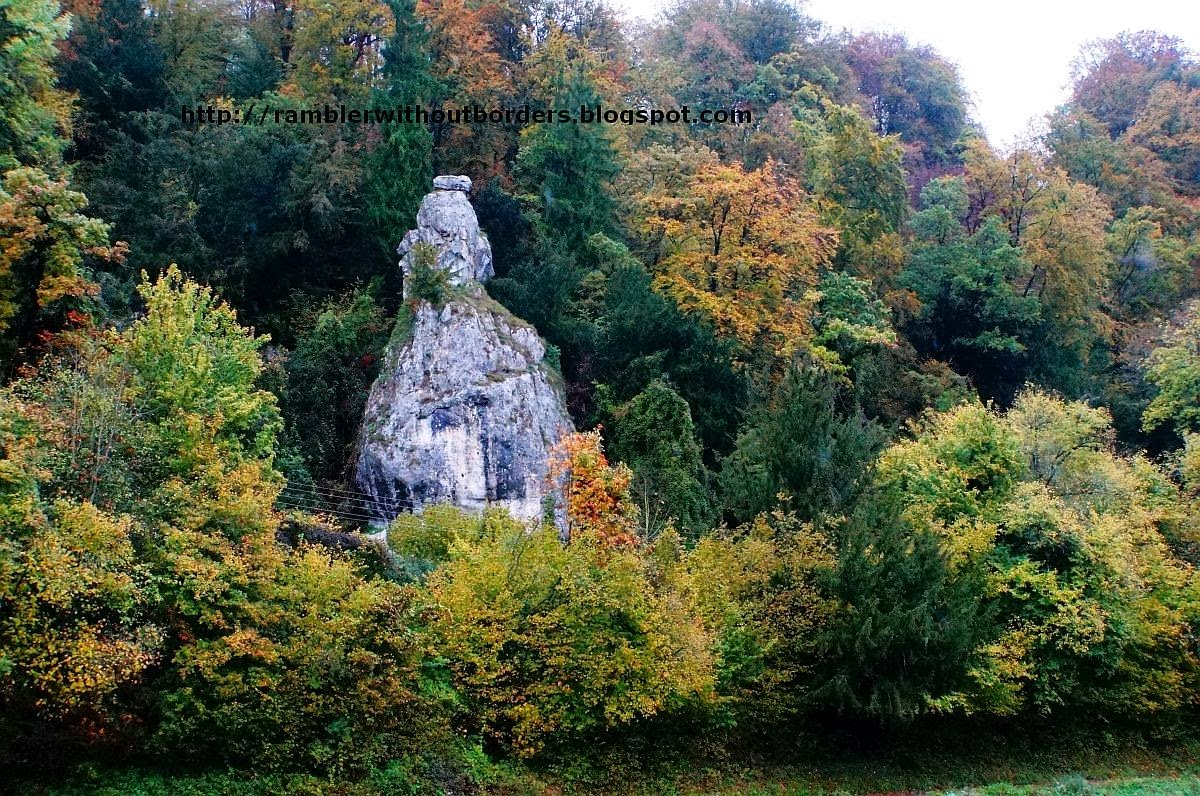 Rock formation, Danube Gorge, Germany