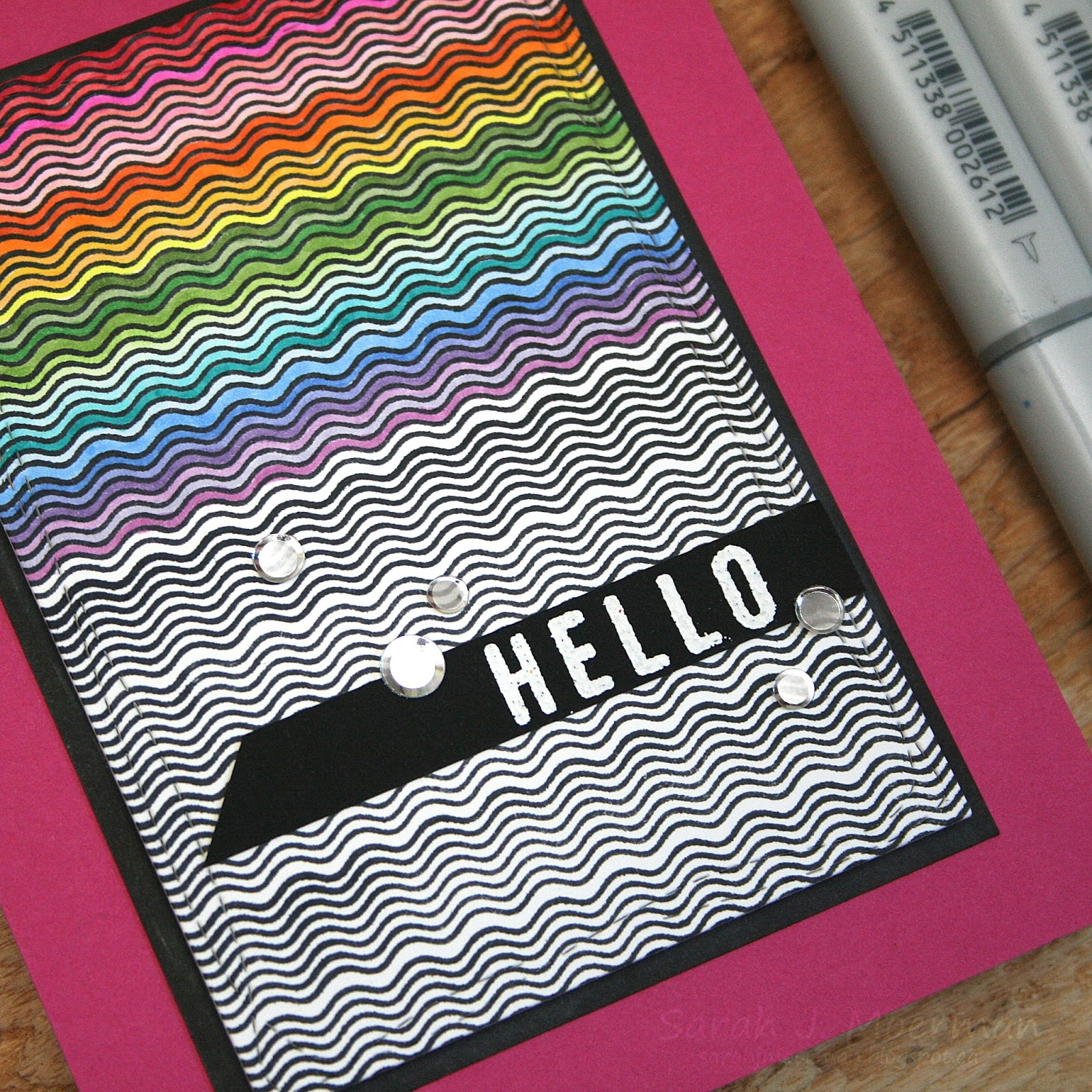 My Impressions: SSS July Card Kit: Wavy Hello Card (& GIVEAWAY)!.... and ...