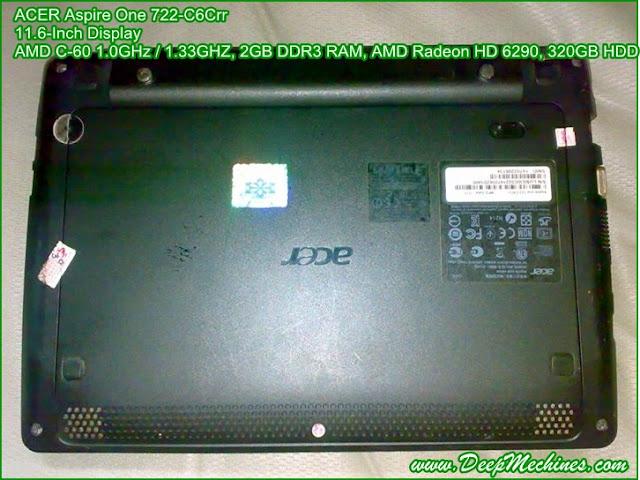 Fitur, Kelebihan dan Kekurangan pada Netbook ACER Aspire One 722-C6Crr