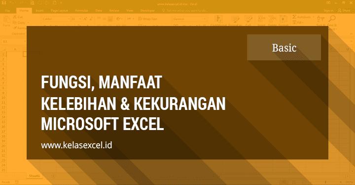 Fungsi, Manfaat dan Kegunaan Microsoft Excel (Pengenalan Excel 2)