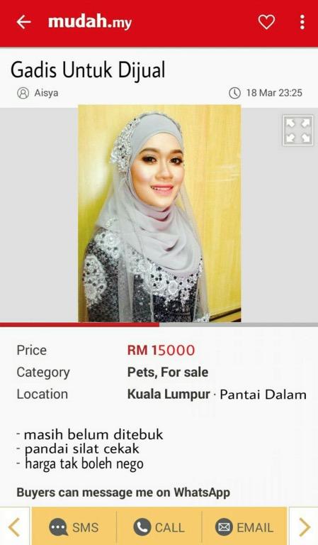 Iklan Mudah Pengantin Perempuan Hantaran RM15,000