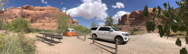 2018 Ford Expedition Max at Kings Bottom Campground outside Moab,Utah