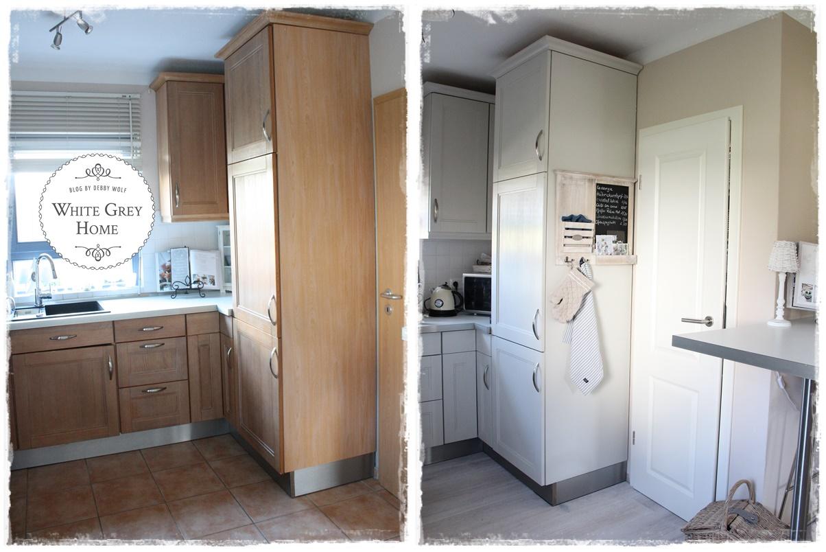 white grey home: Küche im Juli Vorher Nacher