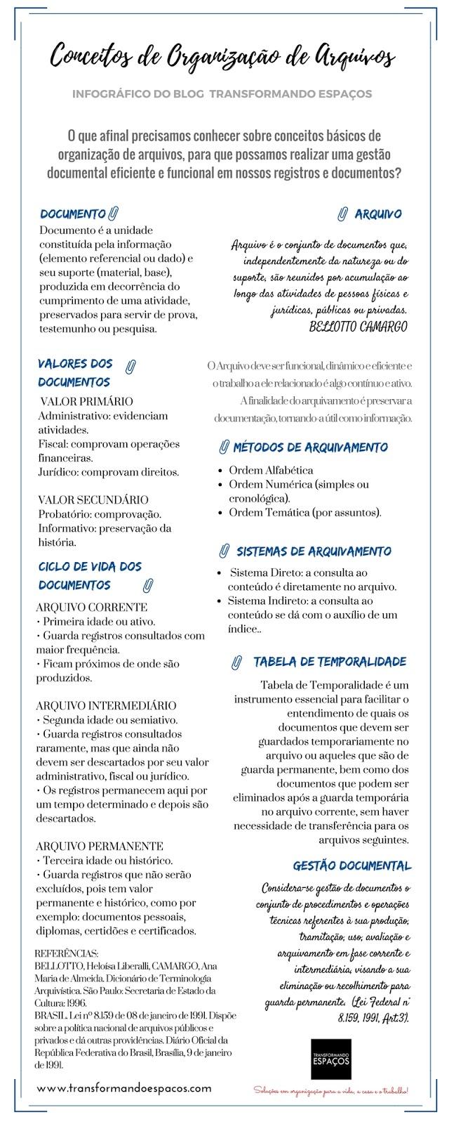 Infográfico Conceitos de Organização de Arquivos