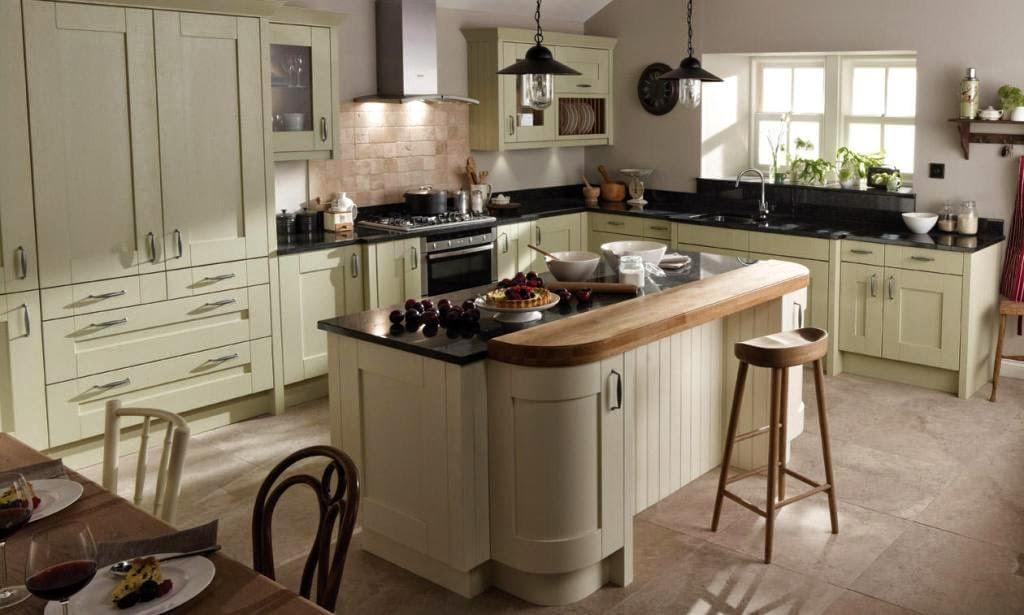 30 modelos de mesas y barras para cocinas de todos los for Cocinas enchapadas