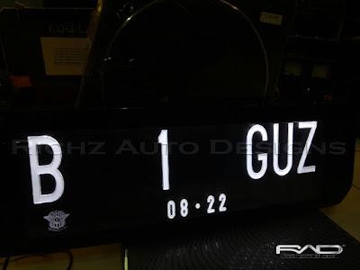 plat nomor mobil grafir led jakarta