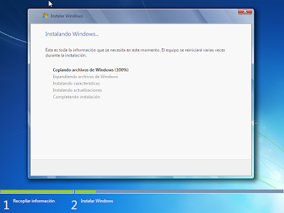 proceso de instalacion windows 7