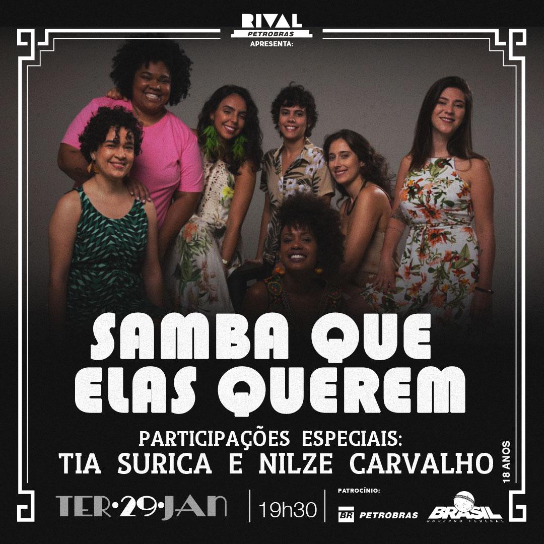 News  Samba que elas querem no Teatro Rival Petrobras - Reino ... 99ba58bb426