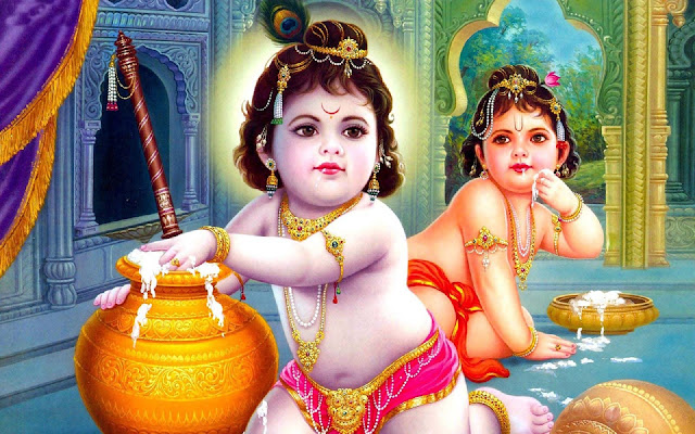 Beautiful God Krishna & Balram  Wallpaper For Your Computer