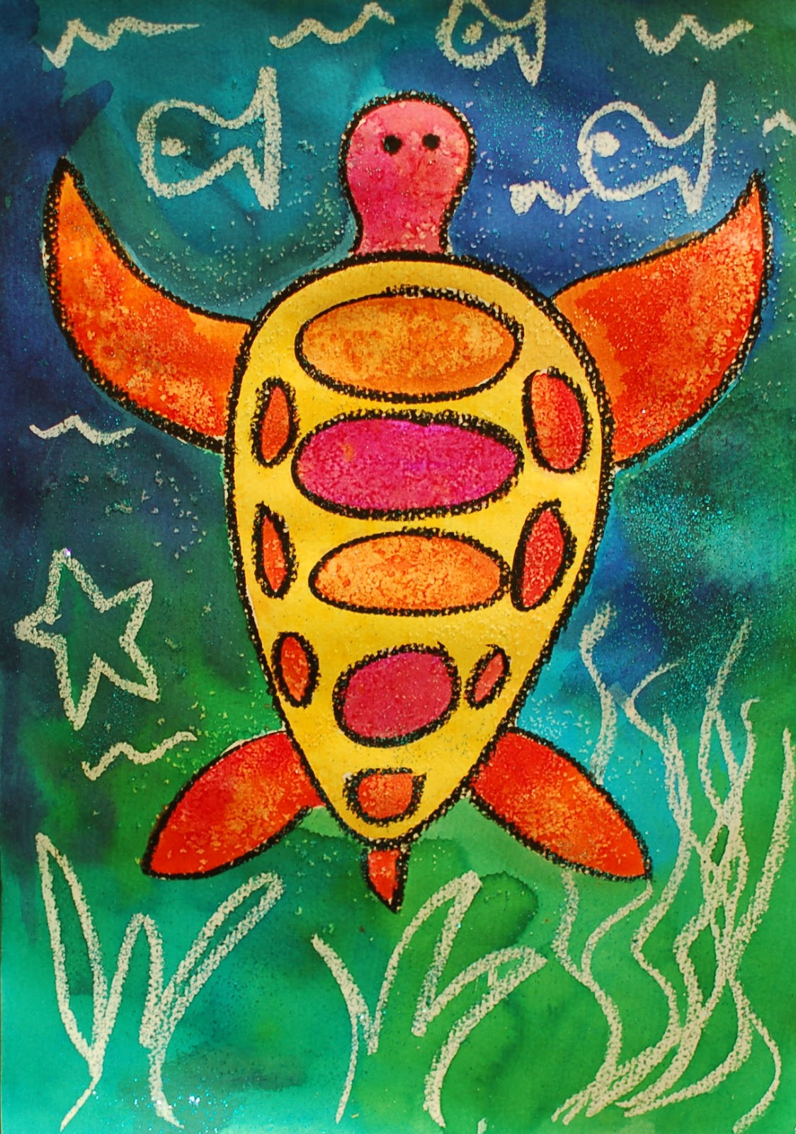Sunnyside Art House: Watercolour Turtles Using Warm And