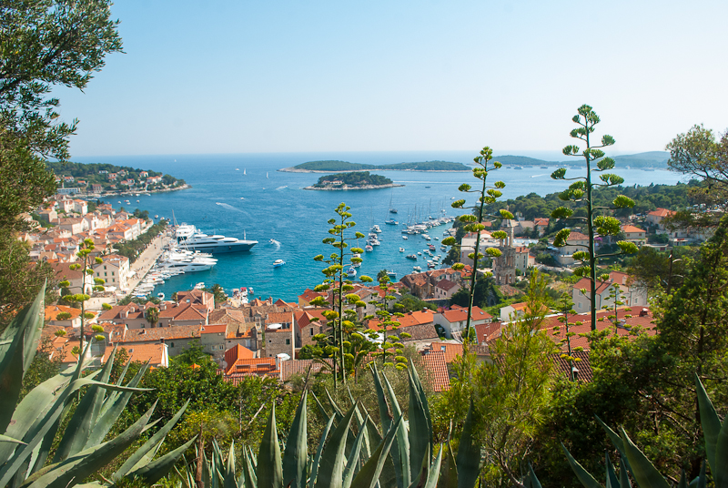 image of hvar from the aerial view croatia