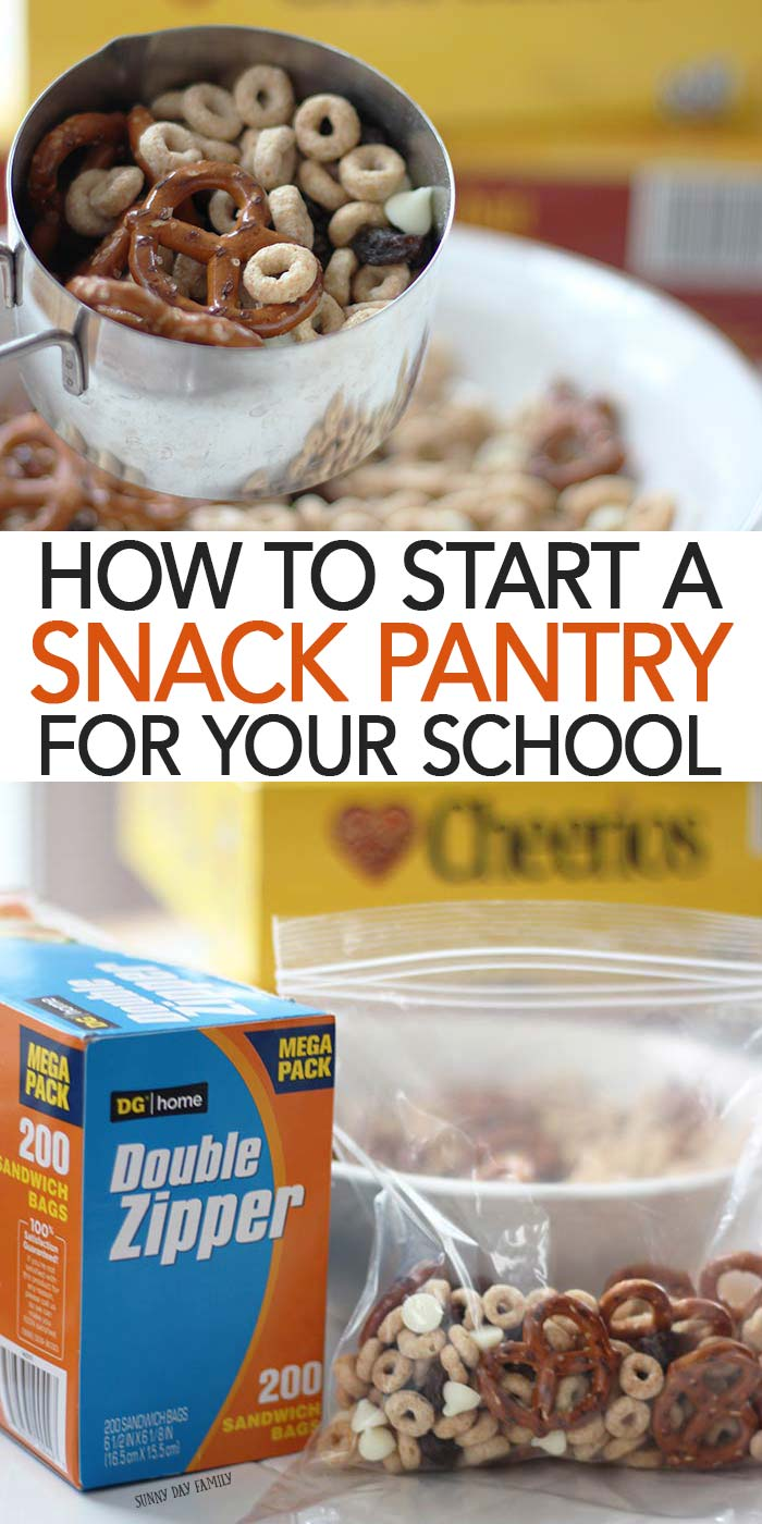 Does your school have a snack pantry? It's a great way to help kids in need and spread kindness too! Learn how and why you need to start a snack pantry at your school and how to make it simple with Cheerios & Dollar General! #ad #DollarGeneral #backtoschool #kindness #snacks