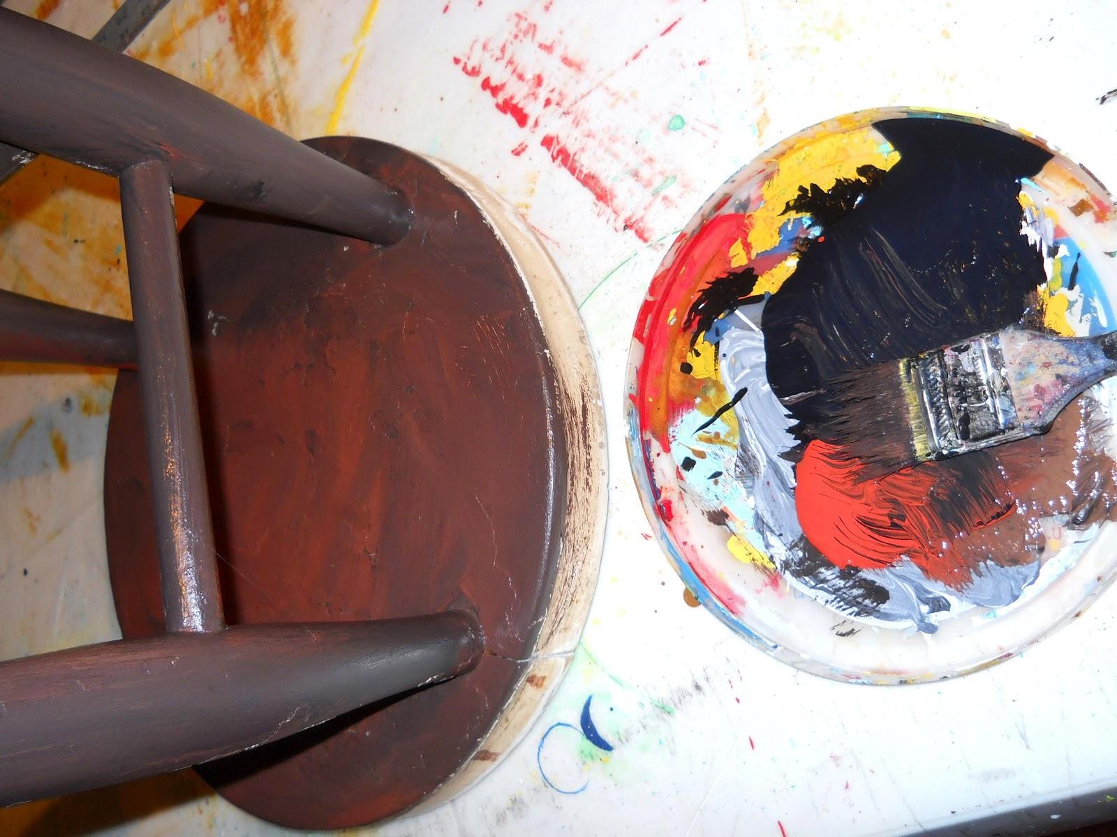 Lake Girl Paints Honey Bee Stool