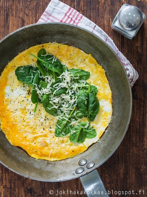 crepes spinaci e parmigiano