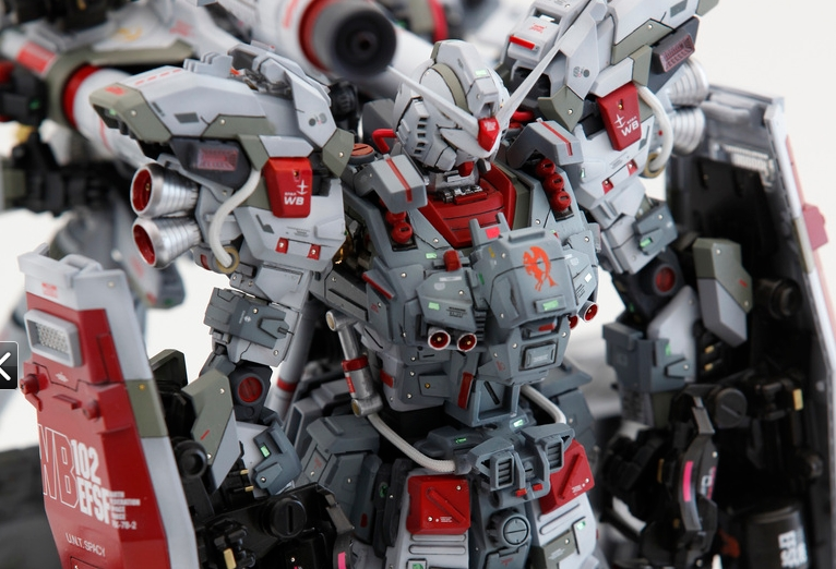 Custom Build Mg 1 100 Rx 78 2 Full Armour De Full Burnern Weapon System Gundam Kits Collection News And Reviews