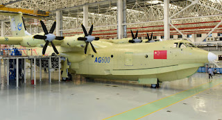 AG600: China's First Amphibious Aircraft Completes First Water Takeoff