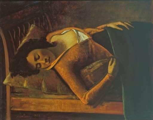 Menina Dormindo - Balthus e sua fixação por garotas e gatos ~ Pintor francês