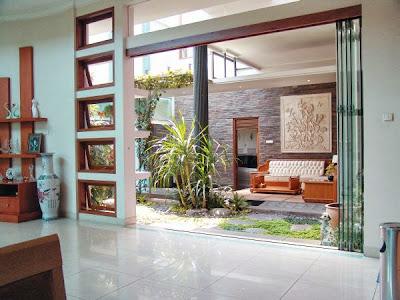 10 ide dan desain taman minimalis di dalam rumah - desain