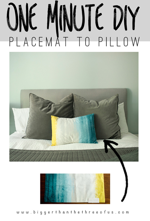 placement to pillow cover