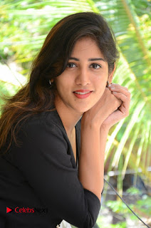 Actress Chandini Chowdary Pictures in Black Jeans at Interview  0127.JPG