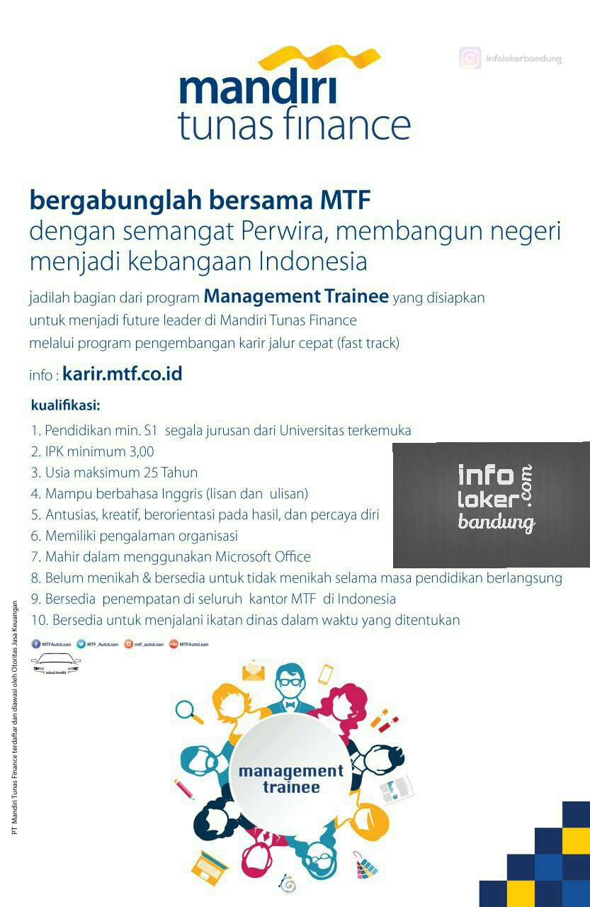 Lowongan Kerja Mandiri Tunas Finance Maret 2017