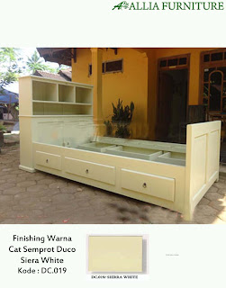 Contoh Furniture Semprot Duco Siera White