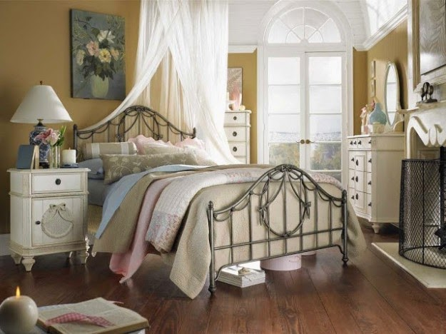 dormitorio estilo country