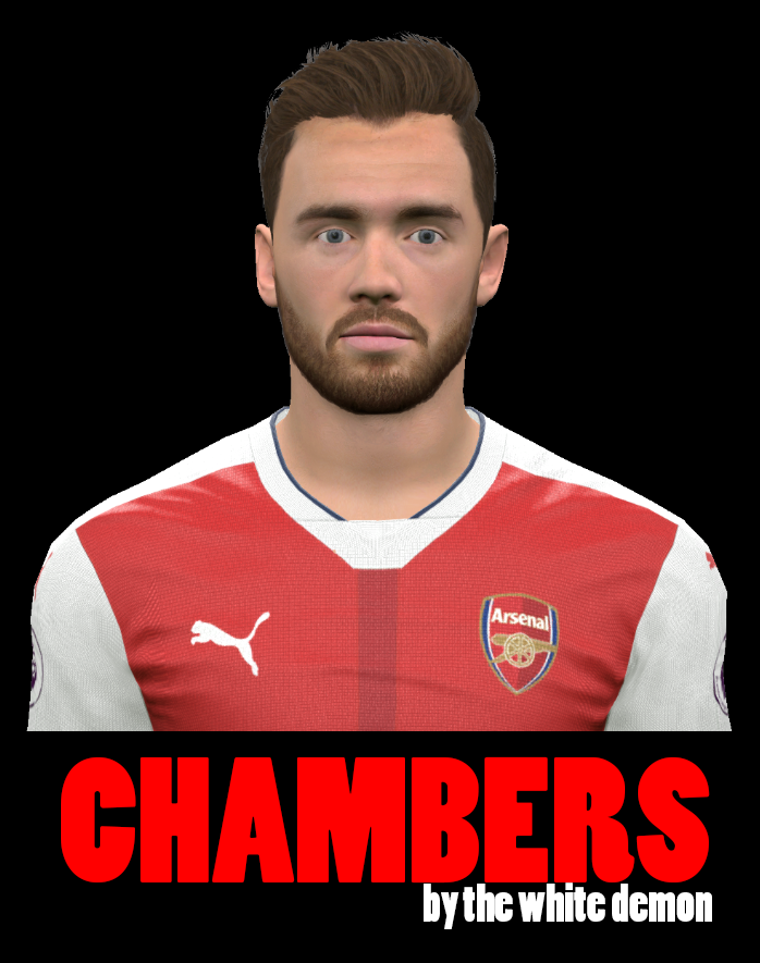 PES 2017 Calum Chambers Face By The White Demon