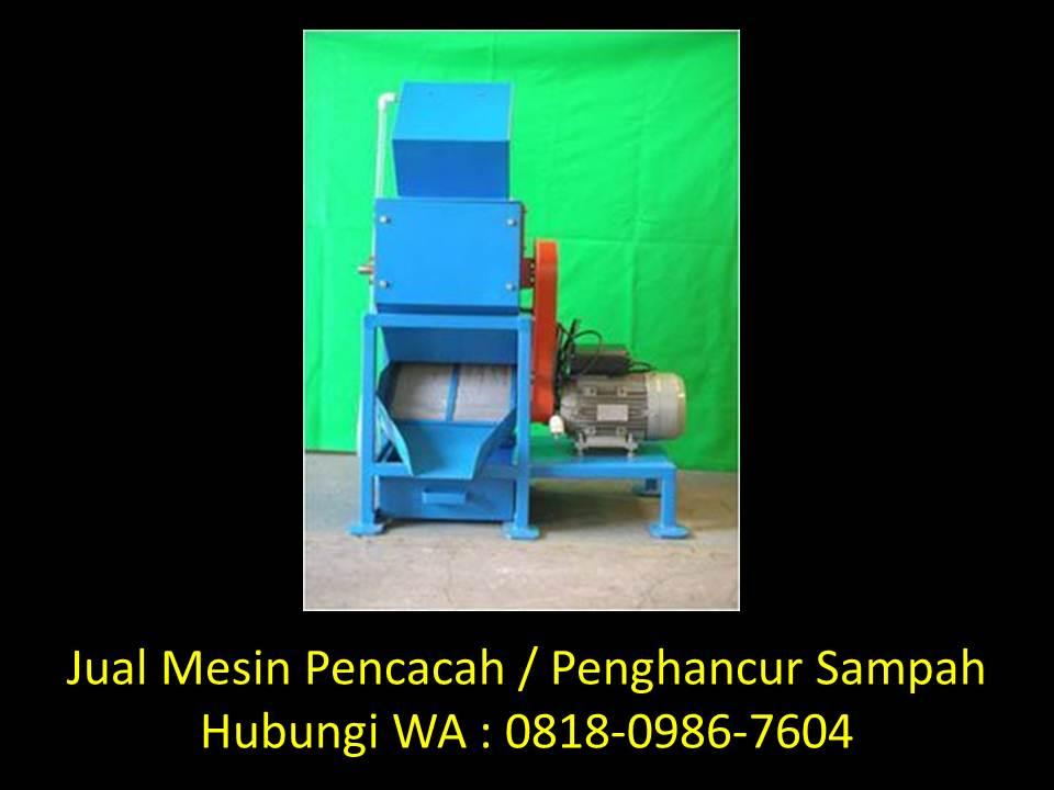 mesin pencacah sampah organik dan anorganik di bandung