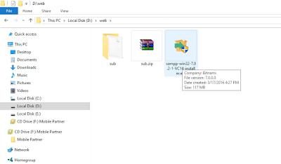 Cara Install Xampp versi 7.0.2.1