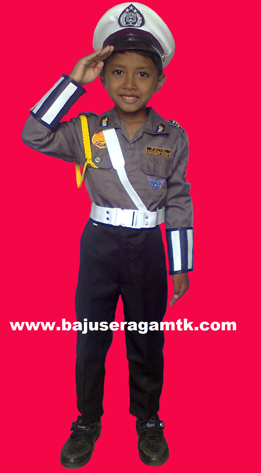 baju profesi anak kostum polisi anak