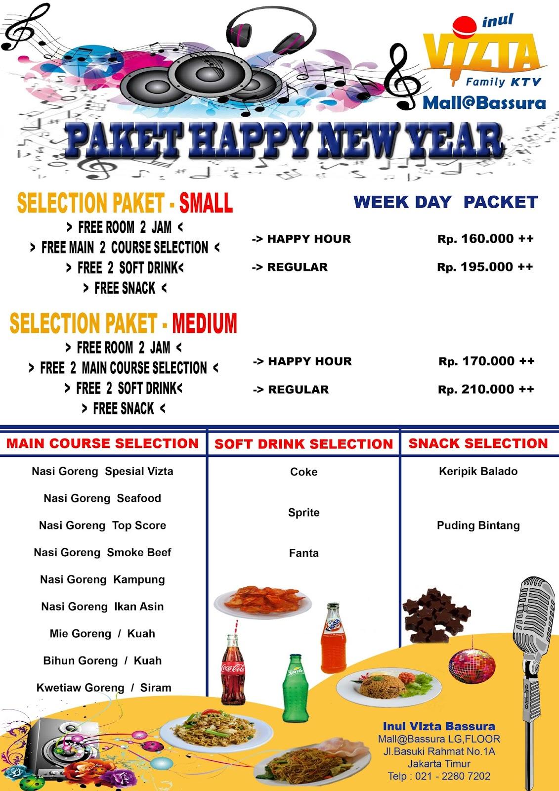 PAKET HAPPY NEW YEAR INUL VIZTA MALL@BASSURA WEEK DAY, PAKET HAPPY NEW YEAR INUL VIZTA BASSURA WEEK DAY