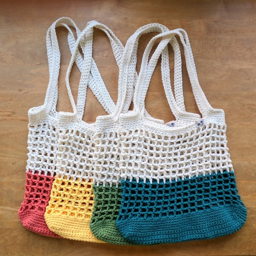Color Block Market Bag - Free Pattern
