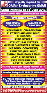 Job openings in Galfar Engineering Company in Oman