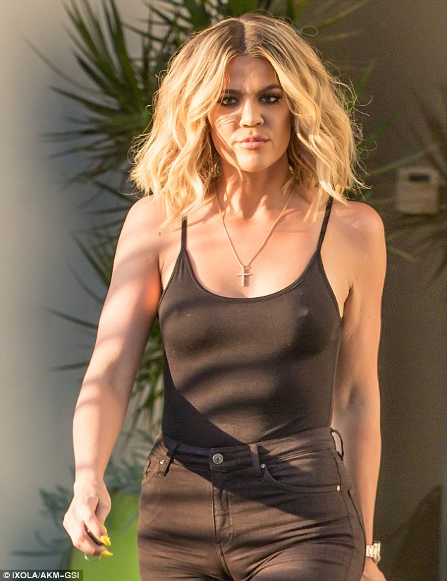 Khloe Kardashian steps out braless in LA