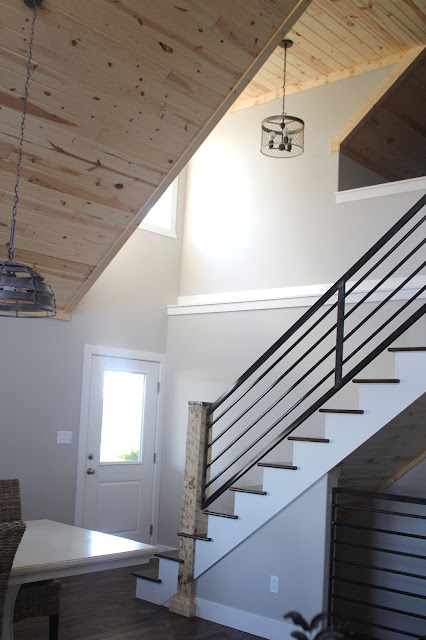 Kitchen remodel and new stairway with custom fabricated railing