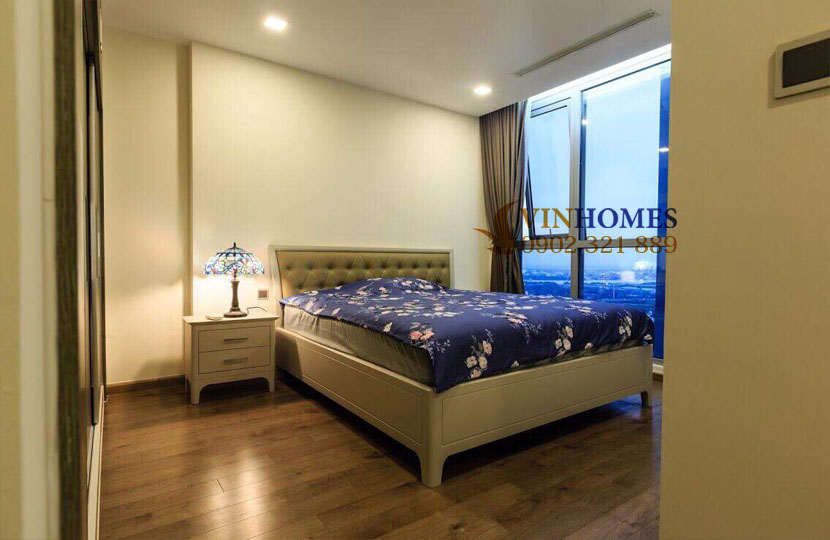 Park 4 Vinhomes cho thuê căn hộ 4 phòng ngủ view trực diện công viên | ảnh chụp phòng ngủ