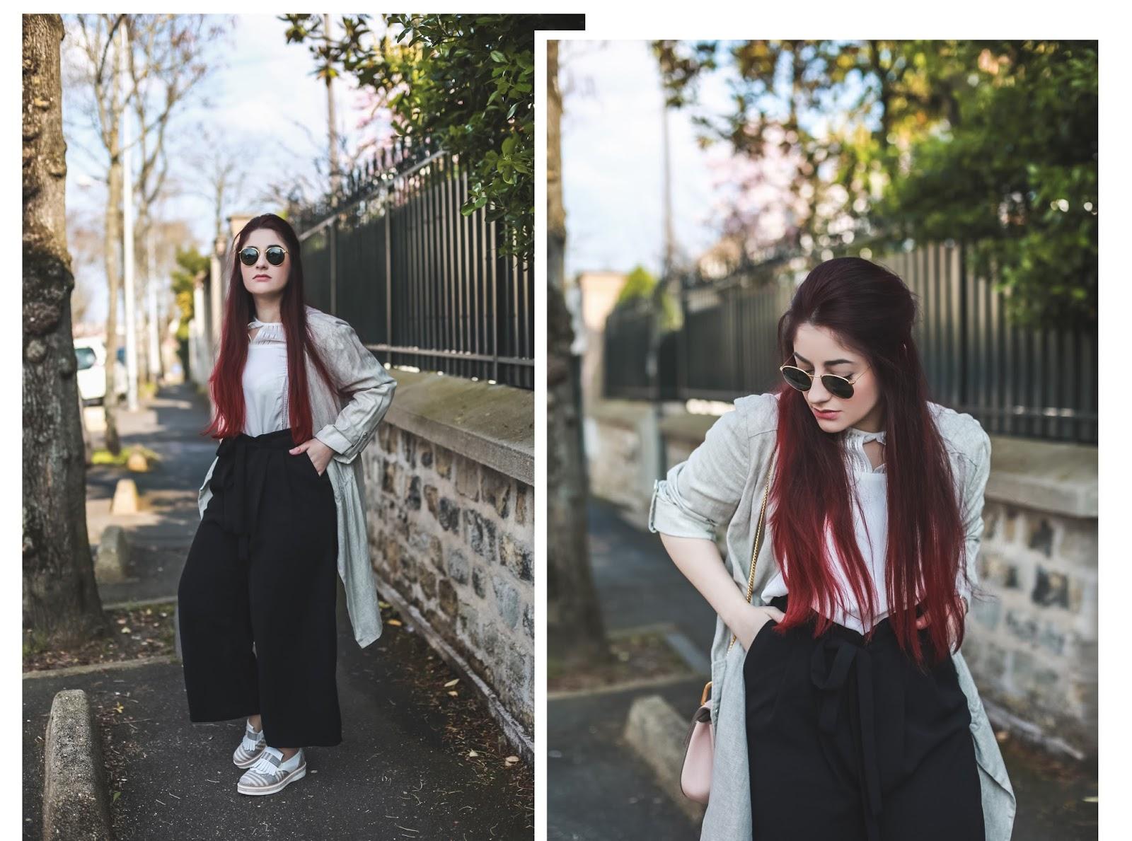 pantalon court taille haute
