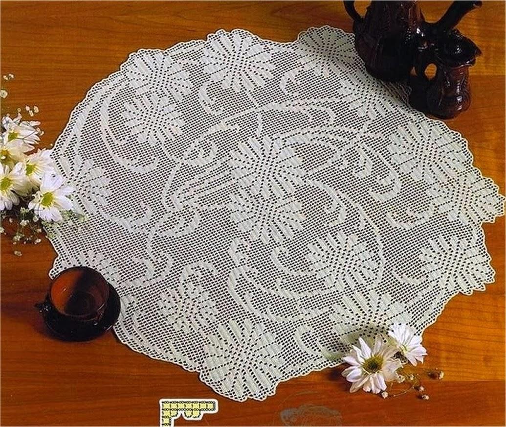 Crochet Tablecloths round