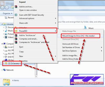cara membuka iso file dengan power iso