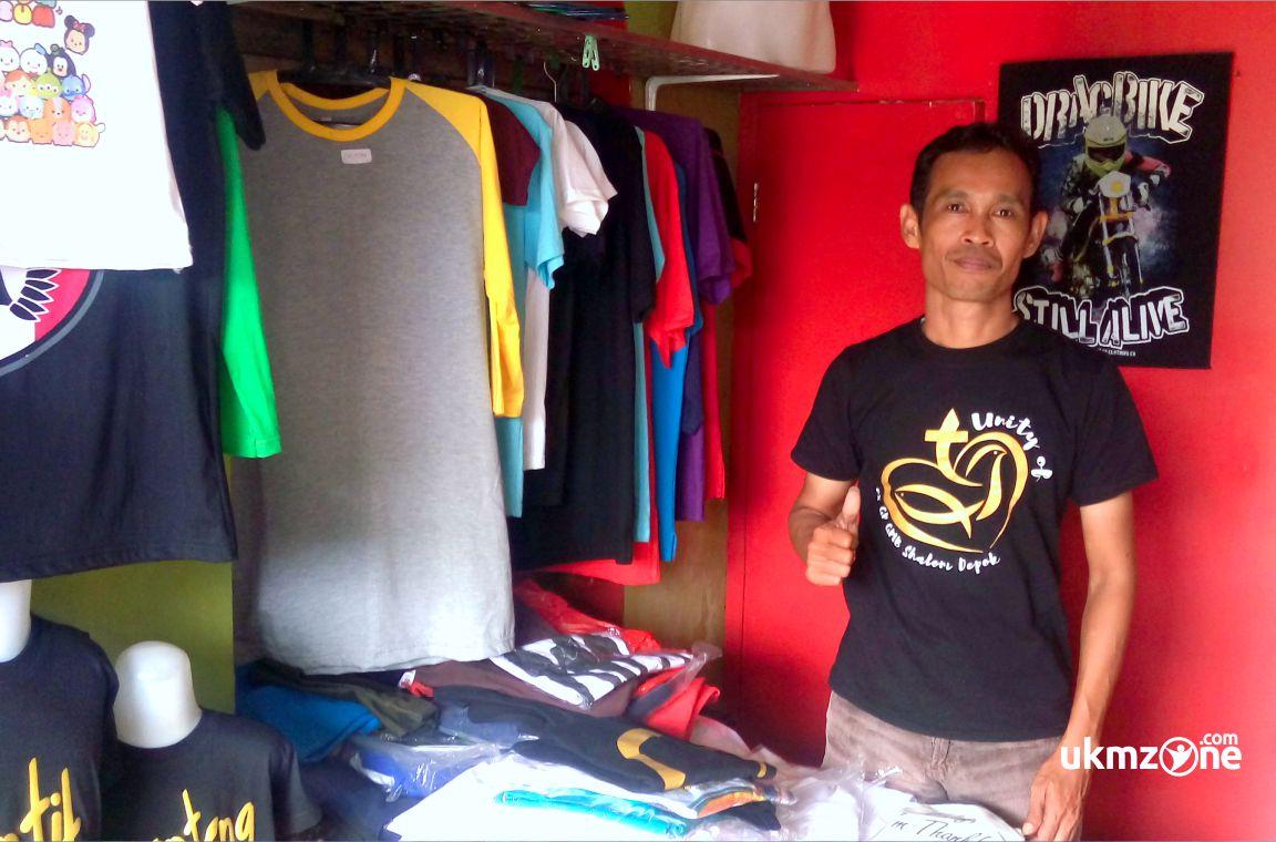 Bapak Andi pengusaha UKM/IKM sablon/cetak kaos di Depok - Kaos Van Depok | UKM Zone