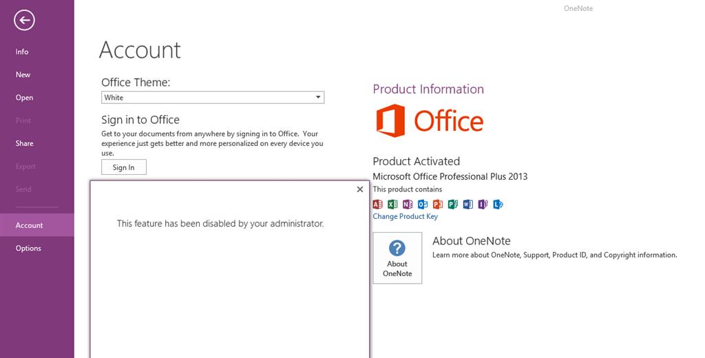 There's a script for that: Onedrive - This feature has been