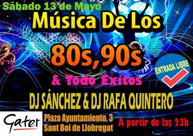 Flyer Fiesta 80s, 90s & Todo Éxitos