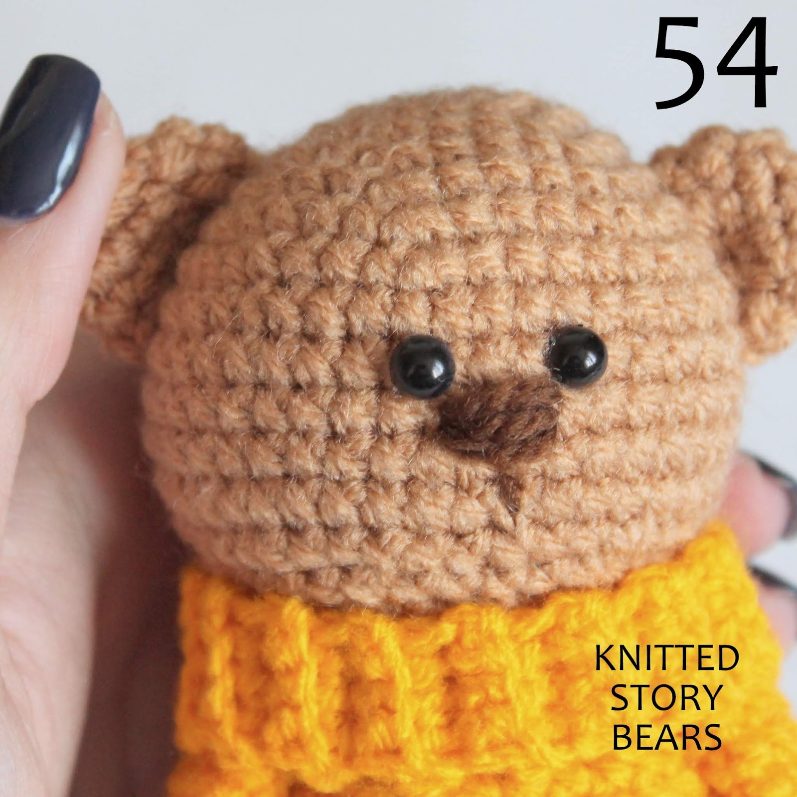 Crochet teddy bear FREE PATTERN - KNITTED STORY BEARS